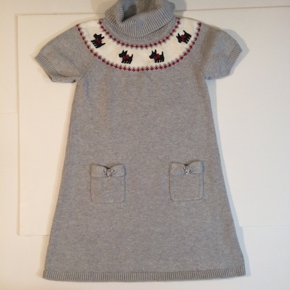 NWT Gymboree Holiday Shop Gray SNOWMAN Sweater Dress You pick size 2T 4T or 5T